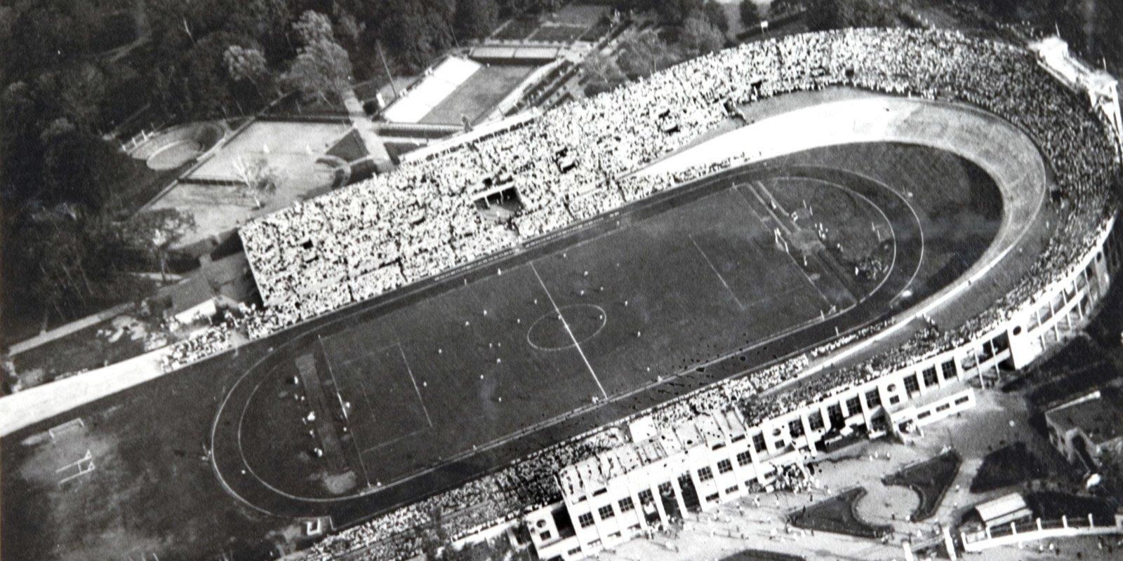 Стадион «Динамо» на Ленинградском шоссе. 1930-е годы. Главархив Москвы